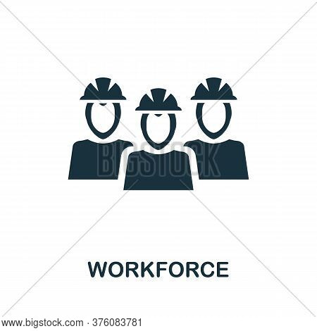 Workforce Icon. Simple Element From Business Management Collection. Creative Workforce Icon For Web