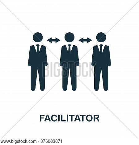 Facilitator Icon. Simple Element From Business Management Collection. Creative Facilitator Icon For