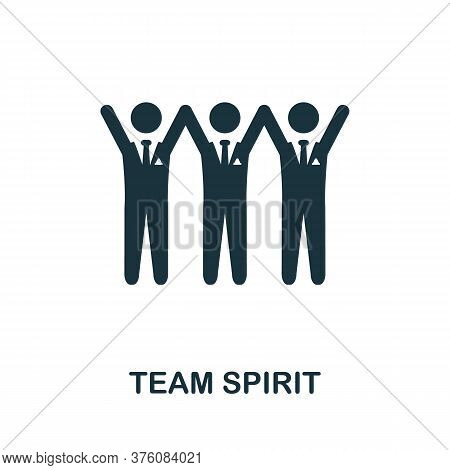 Team Spirit Icon. Simple Element From Business Management Collection. Creative Team Spirit Icon For