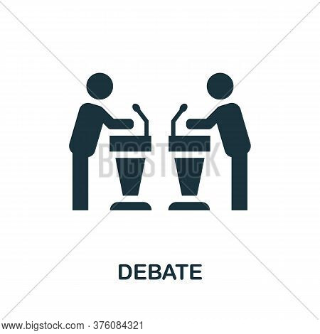 Debate Icon. Simple Element From Business Management Collection. Creative Debate Icon For Web Design