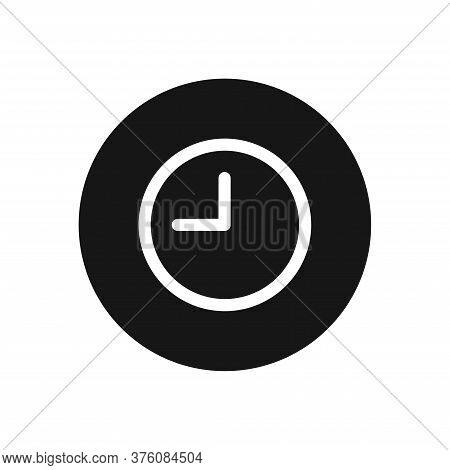 Clock Icon Isolated On White Background. Clock Icon In Trendy Design Style For Web Site And Mobile A