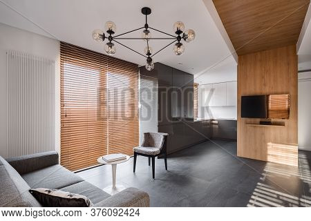 New Apartment With Wooden Blinds