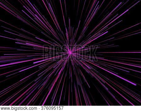 3D render of an abstract background with zoom lines