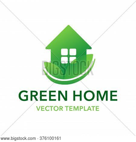 Green Home Logo Template - House Designed To Be Environmentally Sustainable, Utilize Sustainably Sou