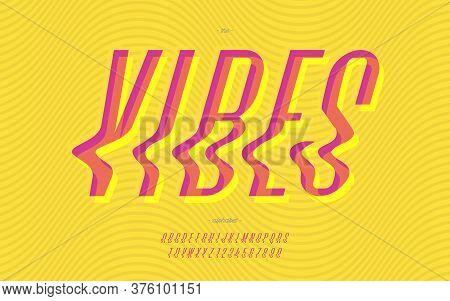 Vector Vibes Font Cool Modern Style Trendy Typography For Decoration, Logo, Summer Party Poster, T S