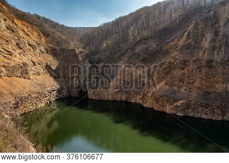 Lake Ledinci, Artificial Lake On The Fruska Gora Mountain Near Novi Sad Serbia