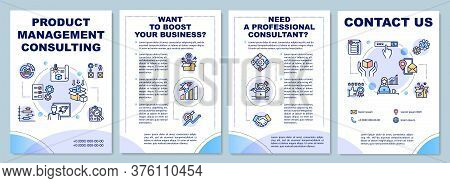 Product Management Consulting Brochure Template. Consultant. Flyer, Booklet, Leaflet Print, Cover De