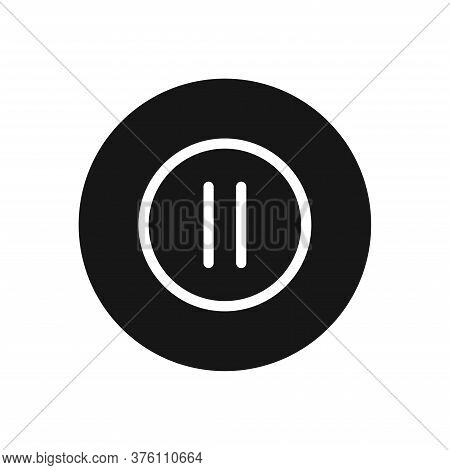 Pause Icon Isolated On White Background. Pause Icon In Trendy Design Style For Web Site And Mobile A