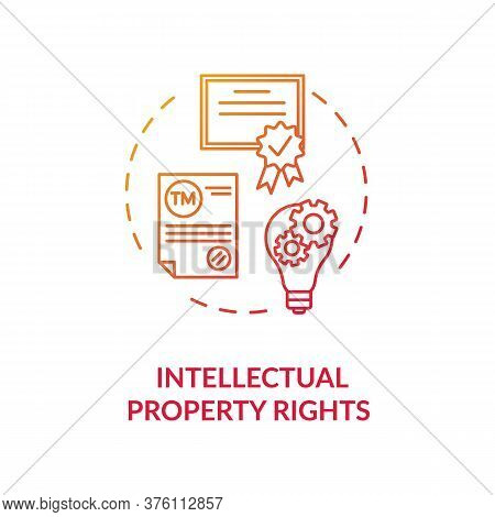 Intellectual Property Rights Concept Icon. Invention Patent. Company Watermark. Copyrights Protectio