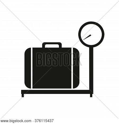Baggage Scale Icon Vector On White Background, Baggage Scale Trendy Filled Icons From Airport Termin