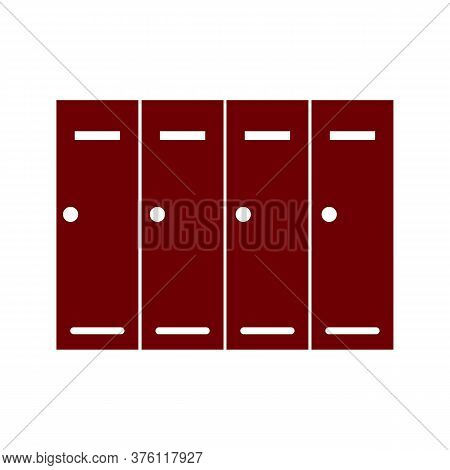Logotype Locker Or Changing Room For Hockey, Football, Basketball Team Or Workers Icon Isolated On W