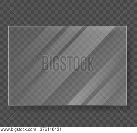 Glossy Transparent Vector Banner Isolated . Glossy Transparency Frame