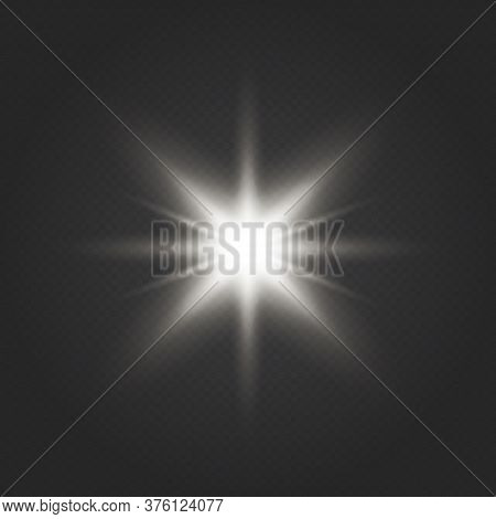 Glow Light Effect. Star Burst With Sparkles. Glow Transparent Vector Light Effect