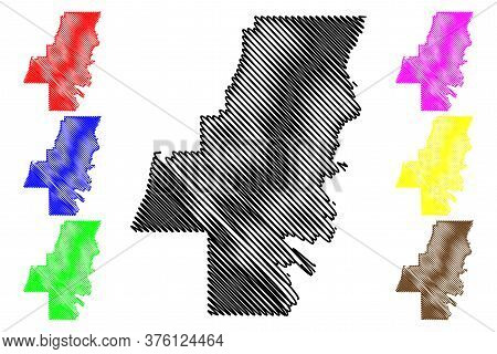 Whitfield County, Georgia (u.s. County, United States Of America, Usa, U.s., Us) Map Vector Illustra
