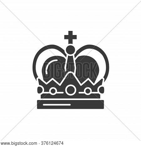Crown Black Glyph Icon. Premium Membership. Greeting, Party, Festival, Event. Sign For Web Page, Mob