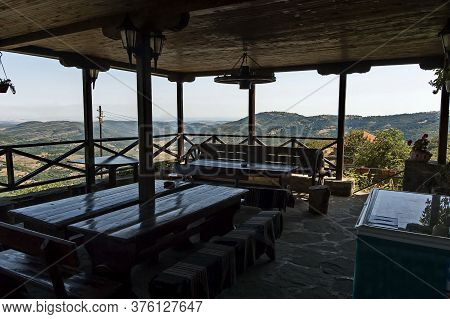Glozhene Monastery , Bulgaria - July 21, 2012:  A Place For Visitors To Relax In The Eastern Orthodo