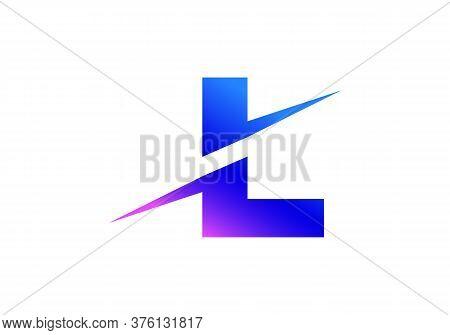 L Letter Logo With Slice Concept Vector. Colorful Slice L Letter Logo Modern, Minimal, Elegant, Bran