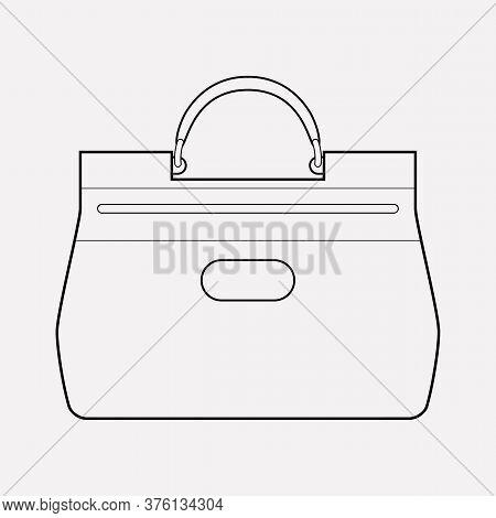 Handheld Bag Icon Line Element. Illustration Of Handheld Bag Icon Line Isolated On Clean Background