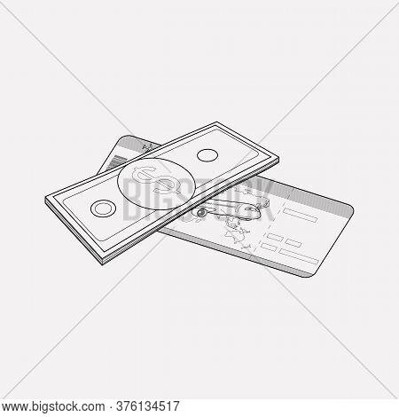 Compensation Icon Line Element. Illustration Of Compensation Icon Line Isolated On Clean Background