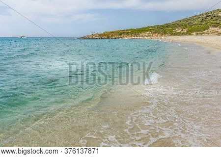 Landscape In The Bodri Beach In Corsica, France