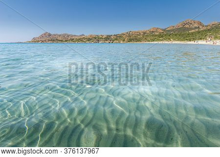 Landscape In The Ostriconi Beach In Corsica, France