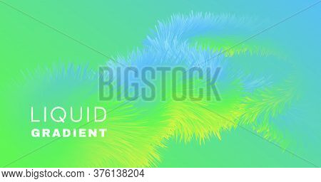 Graphic Fluid. Neon Abstract Background. Vector Geometric Flyer. Bright Motion. Wave Graphic Fluid.