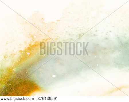 Grunge Pour Texture. Abstract Ink Art. Pastel Color Watercolor Background. Asteroid Stone Texture.