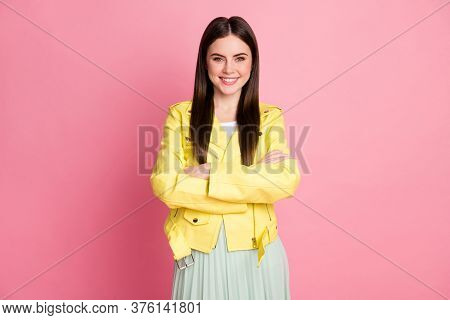 Portrait Of Her She Nice-looking Attractive Lovely Pretty Charming Lovable Fashionable Cheerful Chee