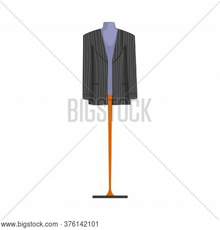 Male Fashion Clothes On Dummy, Male Mannequin For Shop Or Tailoring Vector Illustration