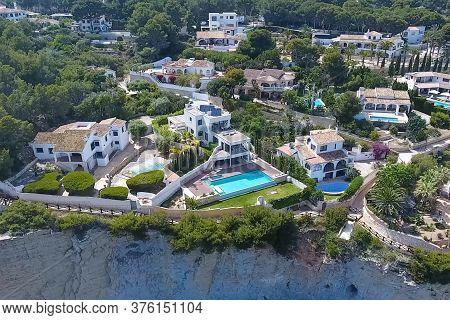 A House In Spain By The Sea. Two-storey Cottage With Their Amenities.