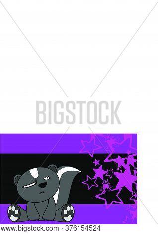 Baby Kawaii Skunk Toy Cartoon Wallpaper Background In Vector Format