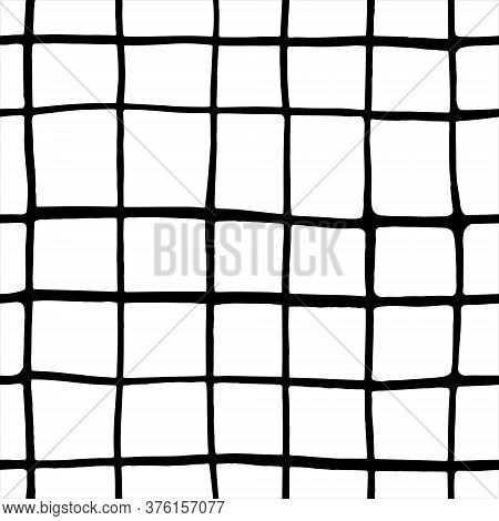 Hand-drawn Pattern Background With Black And White Sell. Hand-drawn Seamless Pattern. Vector Isolate
