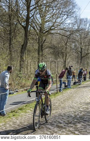 Wallers,france - April 12,2015: The French Cyclist, Benoit Jarrier Of Bretagne-seche Environnement T