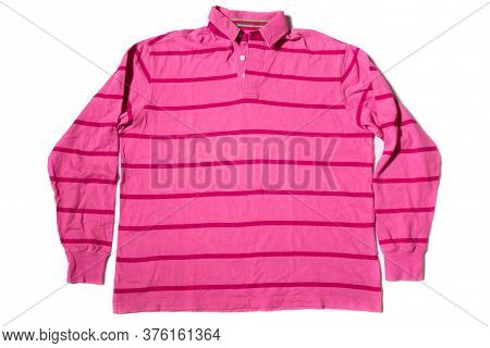 Long Sleeve Rugby Shirt On White Background