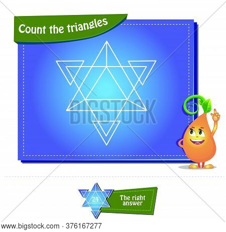 Count The Triangles 21 Brainteaser