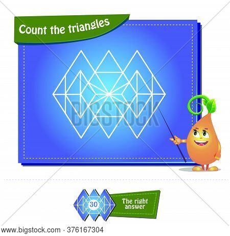 Count The Triangles 22 Brainteaser