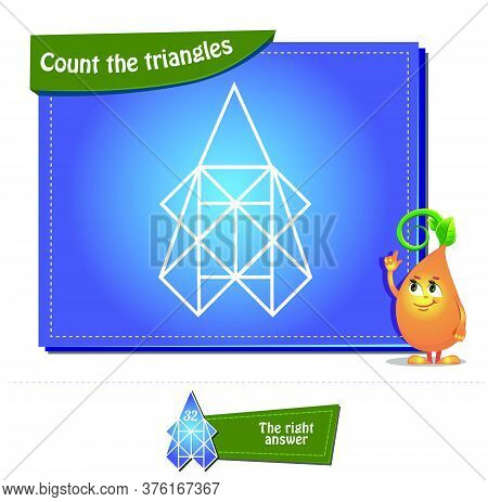 Count The Triangles 24 Brainteaser