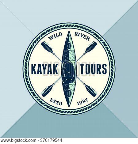 Vector Kayak Adventures Badge Design