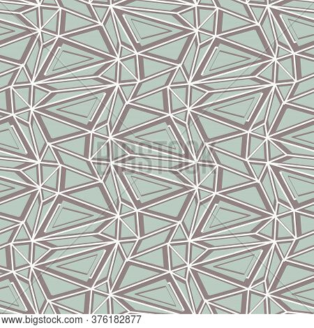 Shattered Structure Seamless Vector Pattern In Muted Colors. Unisex Surface Print Design For Fabrics