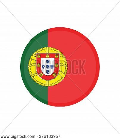National Portugal Flag, Official Colors And Proportion Correctly. National Portugal Flag.