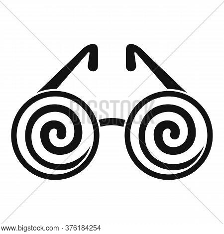 Hypnosis Eyeglasses Icon. Simple Illustration Of Hypnosis Eyeglasses Vector Icon For Web Design Isol