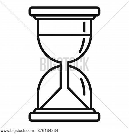 Hypnosis Hourglass Icon. Outline Hypnosis Hourglass Vector Icon For Web Design Isolated On White Bac