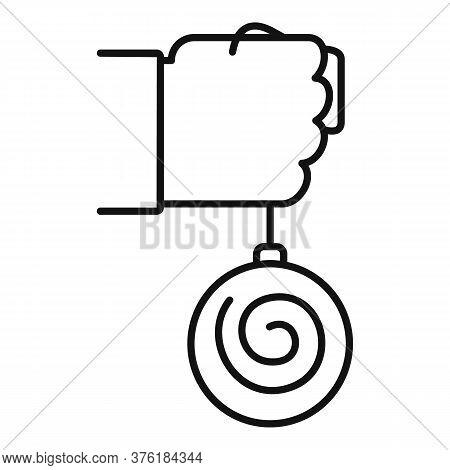 Mental Hypnosis Pendulum Icon. Outline Mental Hypnosis Pendulum Vector Icon For Web Design Isolated