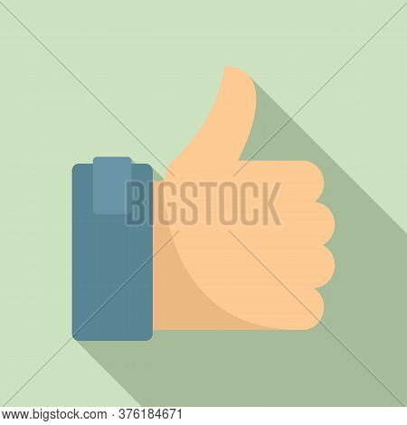 Excellence Thumb Up Icon. Flat Illustration Of Excellence Thumb Up Vector Icon For Web Design
