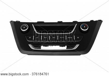 New Car Climate Control Control Panel On A White Background