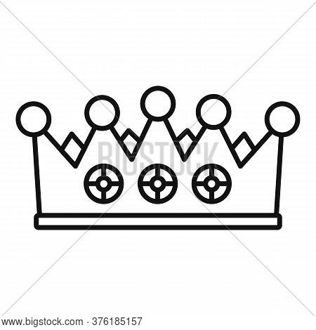 Excellence Crown Icon. Outline Excellence Crown Vector Icon For Web Design Isolated On White Backgro