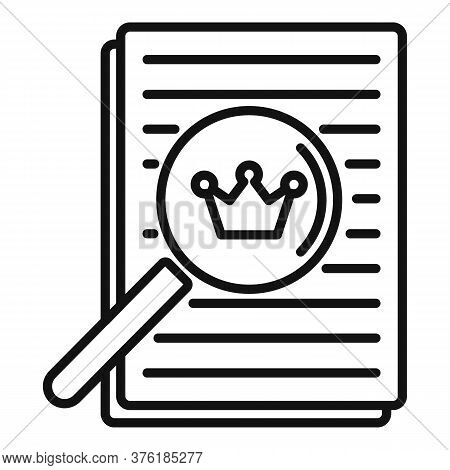 Excellence Paper Report Icon. Outline Excellence Paper Report Vector Icon For Web Design Isolated On