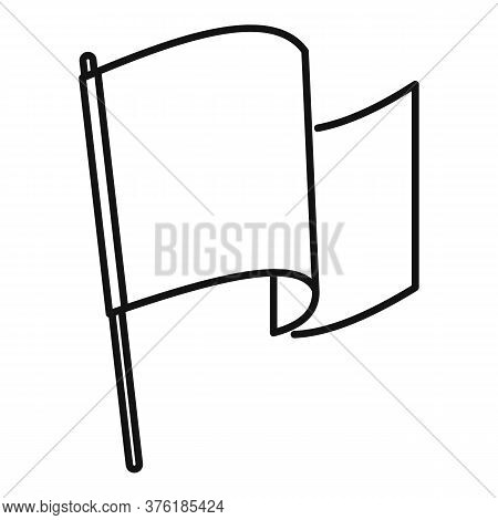 Award Flag Excellence Icon. Outline Award Flag Excellence Vector Icon For Web Design Isolated On Whi