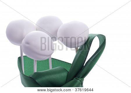 green Cakepops for Sankt Patricks Day