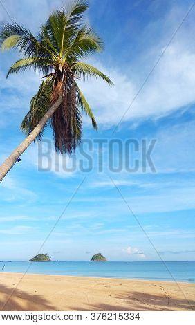 A Sunny Day In Nacpan Beach Of El Nido, Palawan.